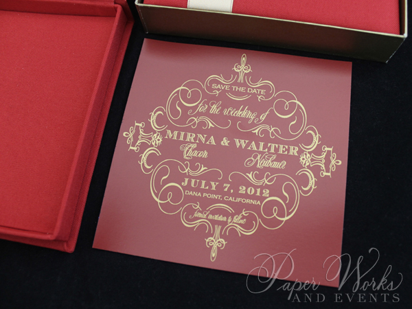 Custom Box Holiday Greeting Save the Date Magnet 5 paperworksandevents.com