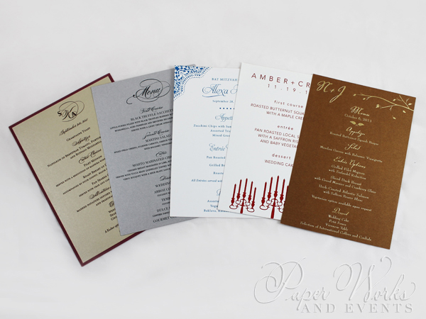 Rectangular Event Menus Multi Sizes 2 pa