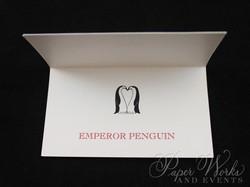 Penguin Pocket Folder Wedding Invitation (7)
