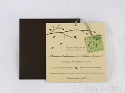 Fall Wedding Save the Date 1 trees candy apple paperworksandevents.com