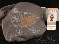 Baseball Ticket Bar Mitzvah Invitation Custom Hoodie Giveaway 2 paperworksandevents.com