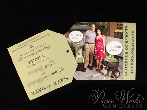 Dog Lovers Pocket Folder Luggage Tag Destination Wedding Save the Date 5 Wax Seal paperworksandevent