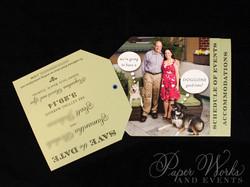 Dog Lovers Pocket Folder Luggage Tag Destination Wedding Save the Date 5 Wax Seal paperworksandevent