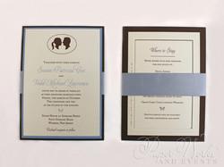 Multi Layered Silhouette Wedding Invitation 4 paperworksandevents.com