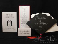Penguin Pocket Folder Wedding Invitation (6)
