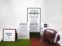 Football Team Turf Invitation Suite