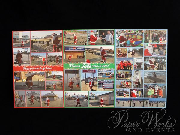 Unique Holiday Photo Card Tri Fold Santa 3 paperworksandevents.com