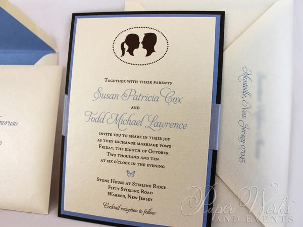 Multi Layered Silhouette Wedding Invitation 5 paperworksandevents.com
