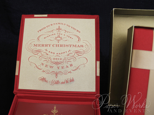 Custom Box Holiday Greeting Save the Date Magnet 2 paperworksandevents.com