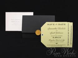 Dog Lovers Pocket Folder Luggage Tag Destination Wedding Save the Date 4 Wax Seal paperworksandevent