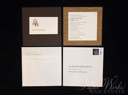 Modern Organic Layered Pocket Cork Invitation 1 paperworksandevents.com