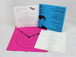 Square Event Menus Multi Sizes paperwork