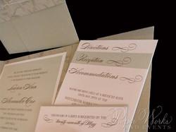 Pocket folder Wedding Invitation (2)