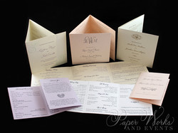 Tri-Fold Wedding Programs paperworksande