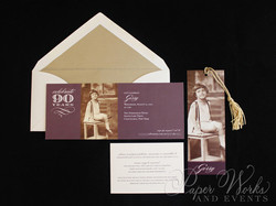 90th Birthday Invitation 2 paperworksandevents.com