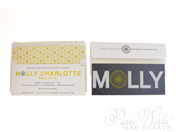 Modern Letterpress Foil Stamped Glitter Bat Mitzvah Invitation 4 paperworkandevents