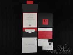 Penguin Pocket Folder Wedding Invitation (3)