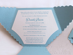 Dye Cut Baby Blue Diaper Baby Shower Invitation 2 paperworksandevents.com