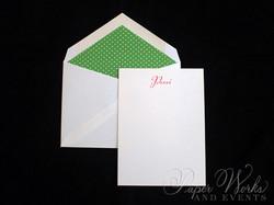 Cute Circle Bridal Shower Invitation Envelope Liner Matching Thank You Notes 3 paperworksandevevnts.