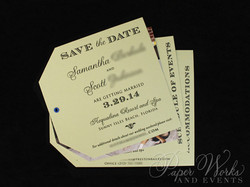 Dog Lovers Pocket Folder Luggage Tag Destination Wedding Save the Date 8 Wax Seal paperworksandevent