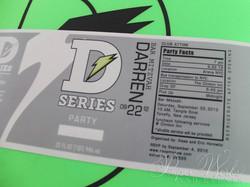 Sports Drink Bottle Label Invitation Microbead Pillow Giveaways 4 paperworksandevents.com