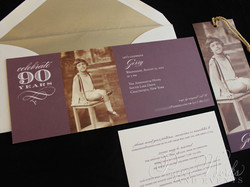 90th Birthday Invitation 1 paperworksandevents.com