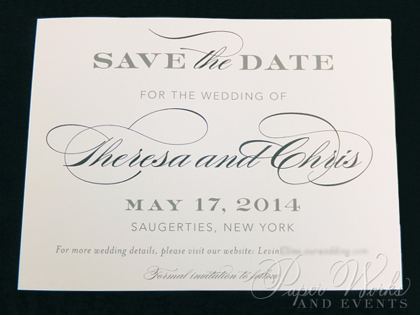 Cream and White Patterned Save the Date (3)
