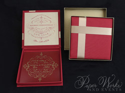 Custom Box Holiday Greeting Save the Date Magnet 1 paperworksandevents.com