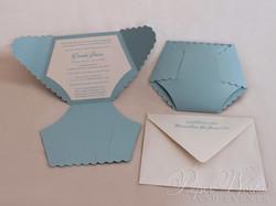 Dye Cut Baby Blue Diaper Baby Shower Invitation 1 paperworksandevents.com