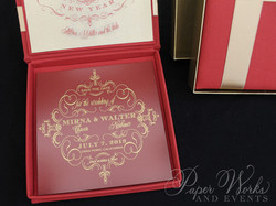 Custom Box Holiday Greeting Save the Date Magnet 3 paperworksandevents.com
