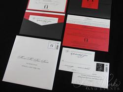 Penguin Pocket Folder Wedding Invitation (5)
