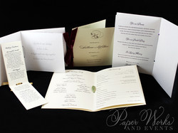 Bi-fold Wedding Programs paperworksandev