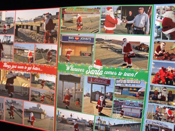Unique Holiday Photo Card Tri Fold Santa 6 paperworksandevents.com