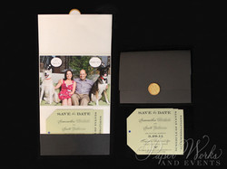 Dog Lovers Pocket Folder Luggage Tag Destination Wedding Save the Date 2 Wax Seal paperworksandevent