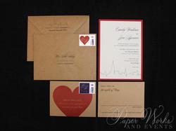 Kraft Paper New York City Wedding Invitation