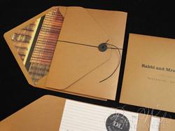 Library Card Catalog Pocket Invitation Custom Stamps 7 paperworksandevents.com