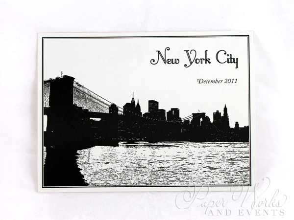 Classic Vintage Post Card Save the Date Black and White 1 paperworksandevents