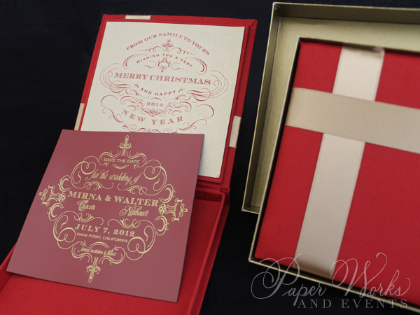 Custom Box Holiday Greeting Save the Date Magnet 4 paperworksandevents.com