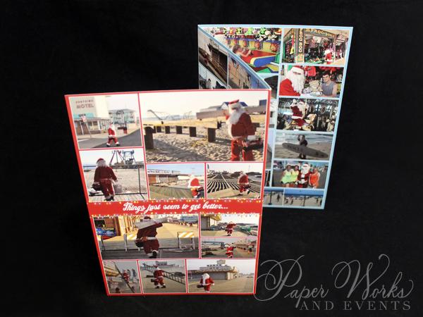 Unique Holiday Photo Card Tri Fold Santa 5 paperworksandevents.com