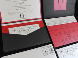 Penguin Pocket Folder Wedding Invitation