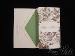 Elegant Floral Tri Fold After Wedding Celebration Invitation 2 paperworksandevents.com