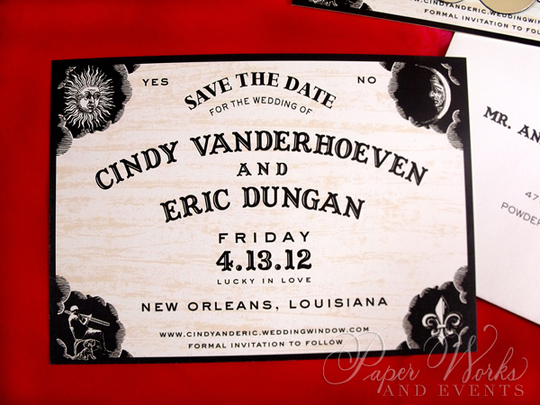 Fun Ouija Board Save the Date 3 paperworksandevents.com