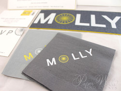 Modern Letterpress Foil Stamped Glitter Bat Mitzvah Invitation 1 paperworkandevents