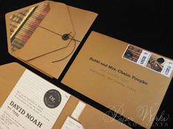 Library Card Catalog Pocket Invitation Custom Stamps 2 paperworksandevents.com
