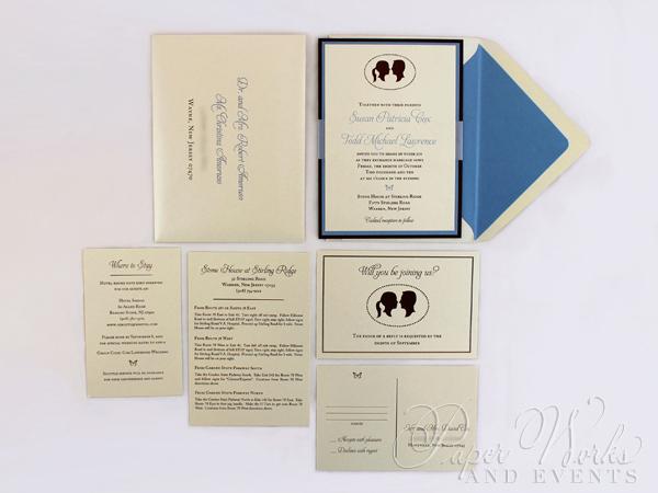 Multi Layered Silhouette Wedding Invitation 1 paperworksandevents.com