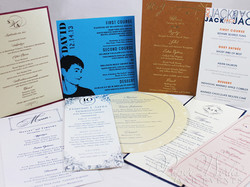Event Menus Multi Shapes and Sizes paper