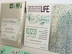 Foilstamped Edge Painted Holographic Invitation Bubble Mailer 1 paperworksandevents.com