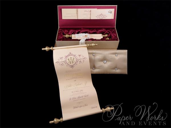 Scroll Wedding Invitation (2)