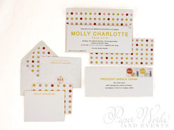 Modern Letterpress Foil Stamped Glitter Bat Mitzvah Invitation 8 paperworkandevents