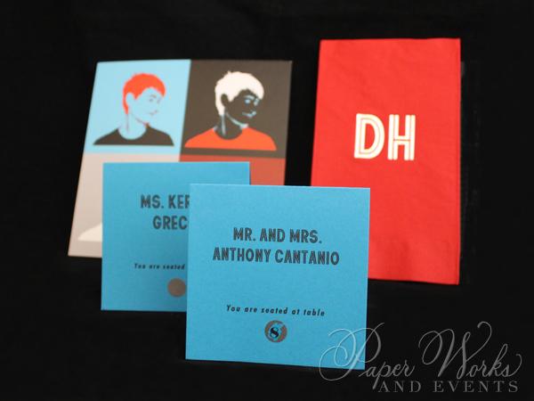 Pop Art Bar Mitzvah Invitation Suite Scratch Off Escort Cards Menus Custom Napkins 1 paperworksandev